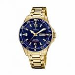 Festina Herrenuhr F20479-2 Automatik Armbanduhr Uhr Mechanisch Saphirglas Gold