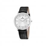Festina Herrenuhr F6806-1- Uhr Silber Armbanduhr Leder Klassik
