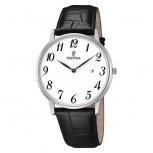 Festina Herrenuhr F6831-1 Elegant Silber Uhr Leder Armbanduhr