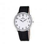 Festina Herrenuhr F6839-1 Silber Uhr Armbanduhr Leder gut ablesbar
