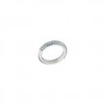 Fossil Damenring JFS000810 blau Silber Ring Gr.18 Beisteckring