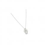 Fossil Damen Kette JFS00169 Herz Kreuz Collier echt Silber Damenkette