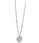 Lotus Damen Kette LS1861-1-1 Style Collier Herz Halskette Silber Schmuckkette