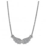 Lotus Damen Kette LS1866-1-1 Style Collier Flügel Silber Schmuckkette Halskette