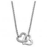 Lotus Damen Kette LS1912-1-1 Style Collier Herz Silber Schmuckkette Halskette