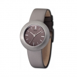 M&M Damenuhr M11828-825 BEST BASIC Leder Silber Uhr