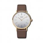 M&M Damenuhr M11892-532 BASIC 36 Uhr Damen Braun Gold