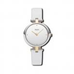 M&M Damenuhr M11931-762 Basic Leder Uhr Silber Weiß
