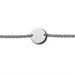 M&M Damen Armband MB3214-120 Silber Armkette Kreis