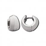M&M Ohrringe ME3172-100 Creolen Silber Facette Line