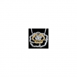 Bersani Anhänger MP3018C Silber Blume Damenanhänger sehr Edel