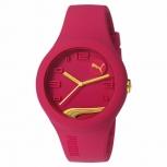 Puma Unisex Uhr PU103001015 Time Uhr Rot Pink  Gold Silikon Damen Herren