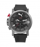 Puma Herrenuhr PU103981004 TIme Ultrasize Chrono Uhr Black Grau