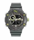 Puma Herrenuhr PU911391002 COLLIDE Analog Alarm Chronograph Silikon Grau