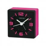 Seiko Wecker QHE091P NO TIC Geräuschlos Alarm Reisewecker Pink Licht