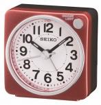 Seiko Wecker QHE118R Quarzwecker Analog Sekunde Snooze Rot