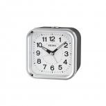 Seiko Wecker QHE130K Uhr Weiß Alarm Durchlaufende Sekunde LumiBrite