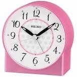 Seiko Wecker QHE136P Uhr Tischuhr Pink Weckuhr no tic geräuscharm