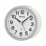 Seiko Wecker QHE138Q Uhr Weiß Alarm Tischuhr
