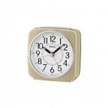 Seiko Wecker QHE140G Gold Alarm Uhr Licht Geräuschlos no tic gut Ablesbar