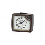Seiko Wecker QHE151Z Uhr Tischuhr Holz Alarm no tic keine ticken