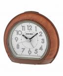 Seiko Wecker QHE154Z Uhr Tischuhr Holz Alarm no tic Weckuhr kein ticken