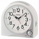 Seiko Wecker QHE170W Geräuschlos Alarm Uhr Licht LumiBrite Alarmwecker