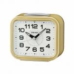 Seiko Wecker QHK050G Uhr Gold Alarm kein Ticken Inkl. Batterie Alarmwecker