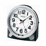 Seiko Wecker QXE011K- Alarm keinTicken schwarz LED Dauerlicht