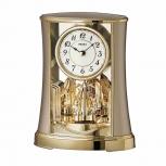 Seiko Uhr QXN227G art-deco-analog Jahresuhr Tischuhr Kaminuhr Pendeluhr