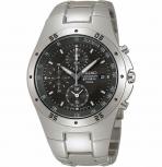 Seiko Herrenuhr SND419P1 Chronograph Armbanduhr Uhr Titan Antiallergisch