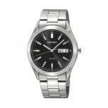Seiko Herrenuhr SNE039P1 Solar Uhr Armbanduhr Solaruhr Silber