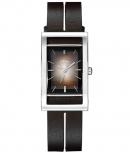 s.Oliver Damenuhr SO-1309-LQ Armbanduhr Leder Braun Silber