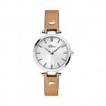 s.Oliver Damenuhr SO-2887-LQ Damen Uhr Armbanduhr Leder
