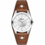 s.Oliver Damenuhr SO-2946-LQ Uhr Armbanduhr Leder