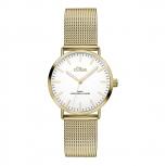 s.Oliver Damenuhr SO-3271-MQ Damen Edelstahl Gold Armbanduhr Uhr