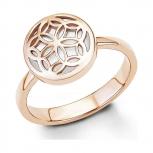 s.Oliver Damenring SO1243 Silber Roségold Perlmutt  Ring Gr 54