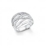 s.Oliver Damenring Silber Ring Silber GR 56