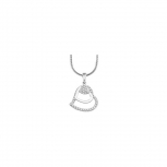 s.Oliver Damen Kette SO728 Herz Silber Collier Halskette