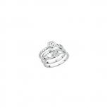 s.Oliver Damenring SO738 3 set TriSet Silber 3 Ringe ein Preis