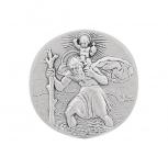 SO82784 Christopherus  Christophorus Autoplakette Silber 925 Schutzpatron