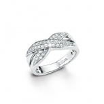 s.Oliver Damenring SO908 Ring Silber Gr. 54