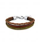 s.Oliver Damen Armband SOK195 Lederarmband Surferarmband Kinderarmband