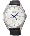 Seiko Herrenuhr SRN071P1 Automatik Kinetic Uhr Leder Armbanduhr