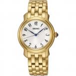 Seiko Damenuhr SRZ392P1 Damen Uhr Gold Armbanduhr