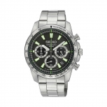 Seiko Herrenuhr SSB027P1 Armbanduhr Chronograph PILOT'S Uhr Silber
