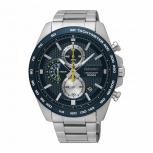 Seiko Herrenuhr SSB259P1 Armbanduhr Chronograph Uhr Silber Chrono