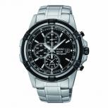 Seiko Herrenuhr SSC147P1 Solar Alarm Armbanduhr Chronograph PILOT'S