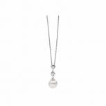 Silvertrends Damen Kette ST1123 Silber Perlenanhänger Collier Perle Schmuck