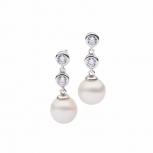 Silvertrends Ohrringe ST1124 Silber Ohrhänger Damenohrringe Perle Perlenohrringe